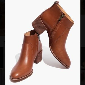 Madewell Asher Boot in Saddle Leather, Size 9.5